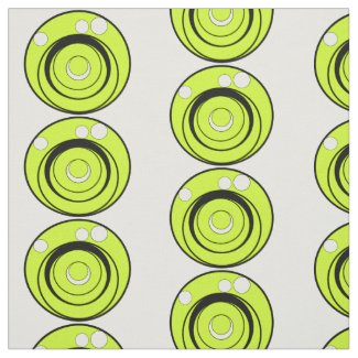Circles lime green, black, white abstract design