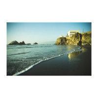 Cliff House, Beach. Canvas Print