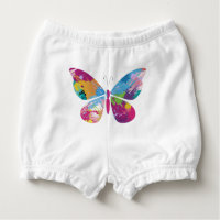 Colourful Butterfly Diaper Cover