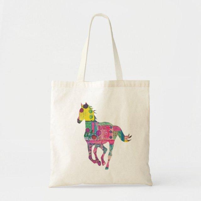 Colourful Horse Tote Bag
