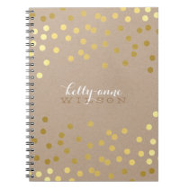 CONFETTI GLAMOROUS cute spot gold crafty kraft Note Books