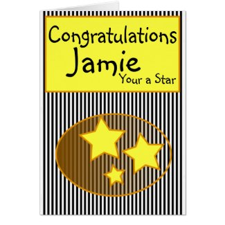 Congratulations (name) your a star add message