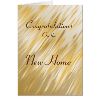 Congratulations on the New Home