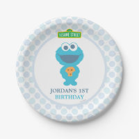 Cookie Monster Paper Plate