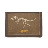 Cool Velociraptor Dinosaur Bones For Boys Trifold Wallet
