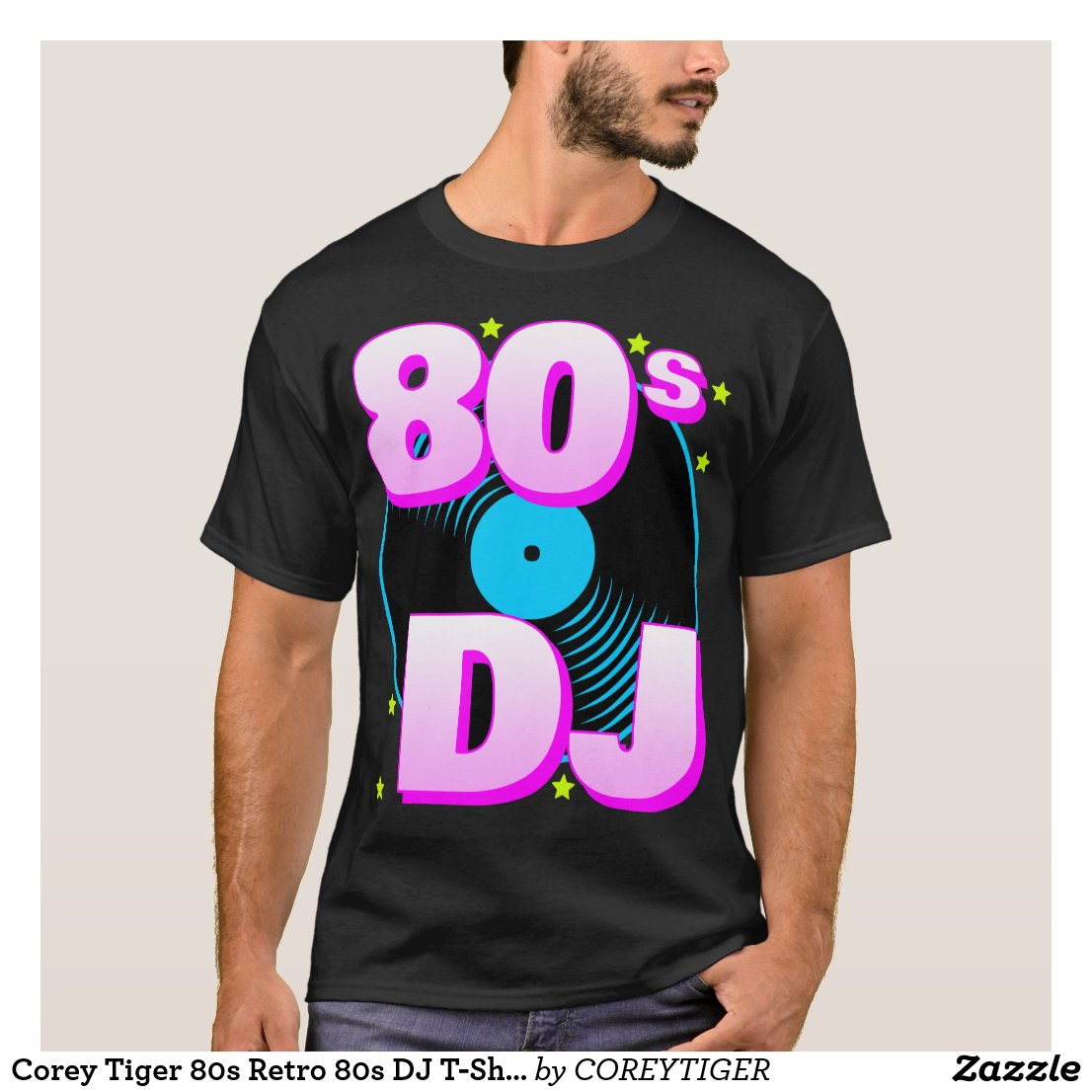 Corey Tiger 80s Retro 80s DJ T-Shirt