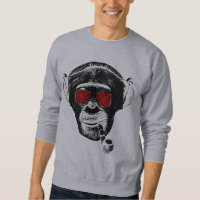 Crazy monkey sweatshirt