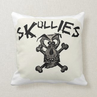 Cushion With Skullies design Throw Pillow