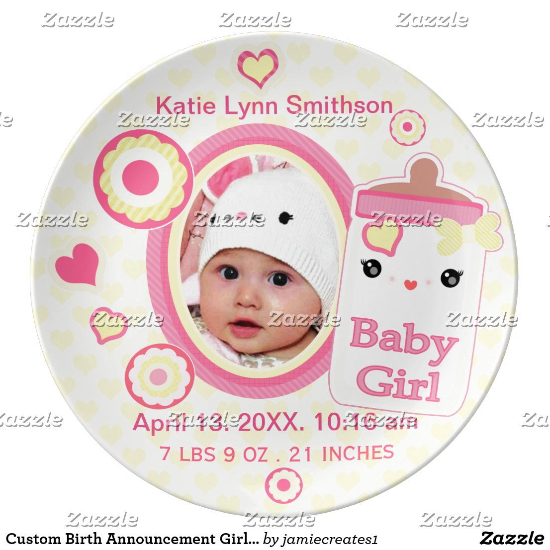 Birth Announcement Keepsake Plate