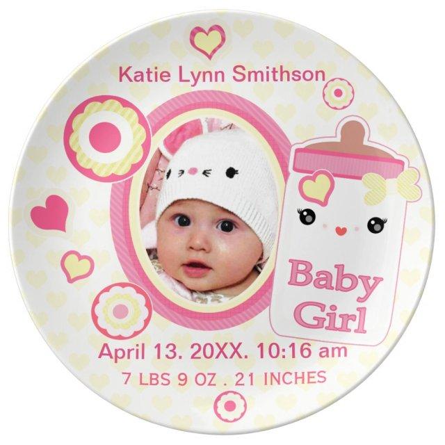 Birth Announcement Keepsake Plate