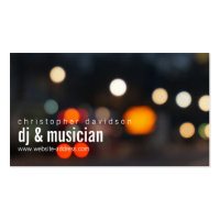 Custom DJ Ambient Lights Business Card