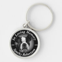 Custom Dog Memorial Keychain