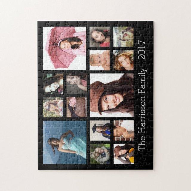 Custom Family Photo Collage Puzzle
