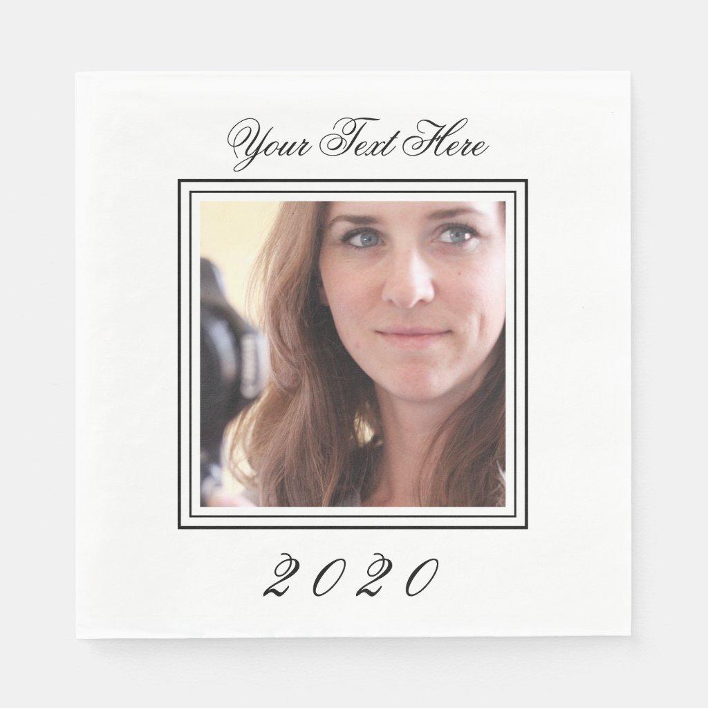 Custom Image Photo Birthday Napkins