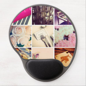 Custom Instagram Photo Collage Gel Mouse Pad