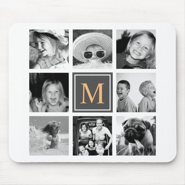 Custom Instagram Photo Collage Monogram