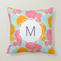 Monogram Floral Pillow