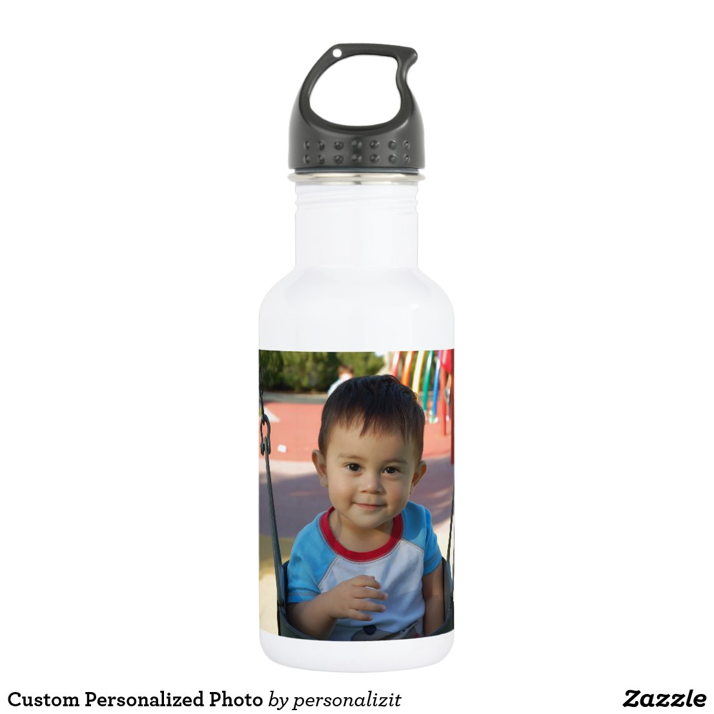 Custom Personalised Photo Water Bottle