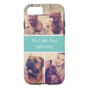 Custom Pet Dog Instagram Photo Collage Case-Mate iPhone Case