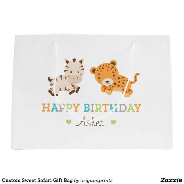 Custom Sweet Safari Gift Bag