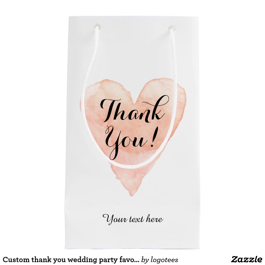 Custom thank you wedding party favour gift bags