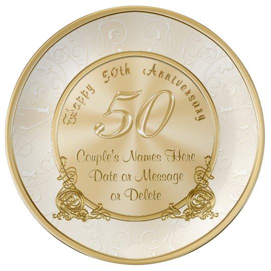 customisable 50th wedding anniversary
