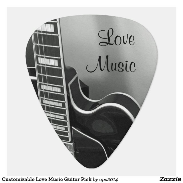 Customisable Love Music Guitar Pick