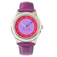 Customizable Purple and Fuchsia Watch for Her