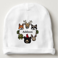 Forest Animals Baby Beanie