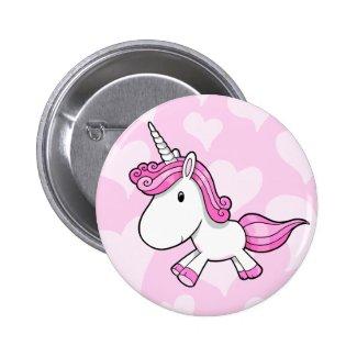 Cute Baby Unicorn Button