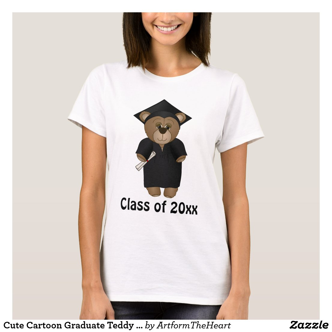 Cute Cartoon Graduate Teddy Bear