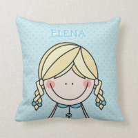 Cute Children's Pillow feat. a cartoon girl