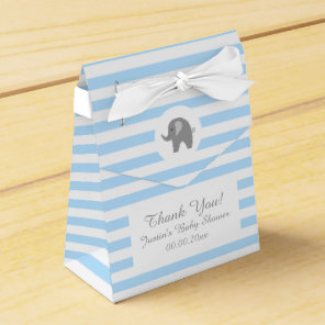 Cute grey elephant baby shower party favour box