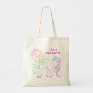 Kawaii unicorn tote bag