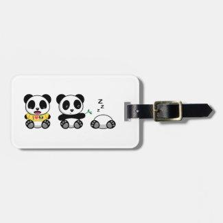 Cute Little Pandas Luggage Tag