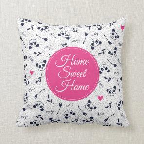 Cute Panda Pattern Design. Cushion