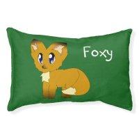 Cute Scruffy Little Fox Customisable Dog Bed | Zazzle