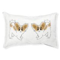Cute Scruffy Papillon Puppy Dog Pet Bed | Zazzle