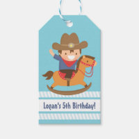 Cute Western Cowboy Kids Gift Tags