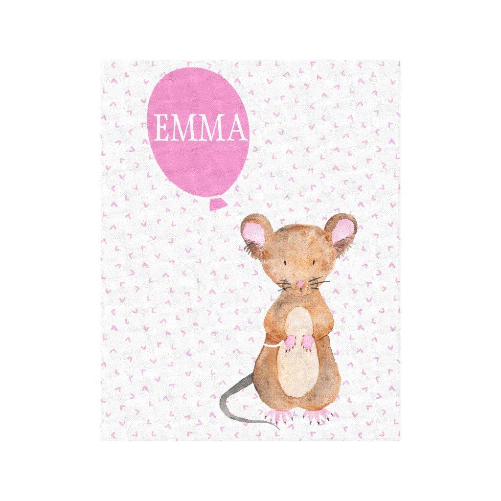 Woodland Mouse Canvas Print