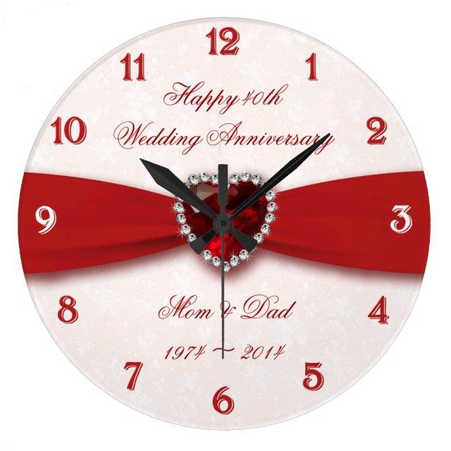 40th Wedding Anniversary Clock