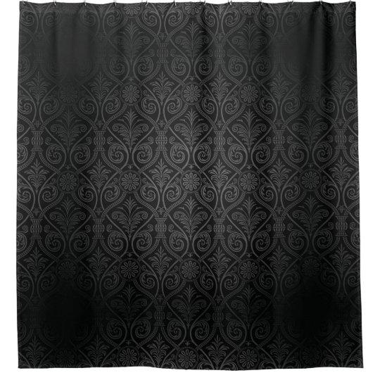 dark gothic damask shower curtain