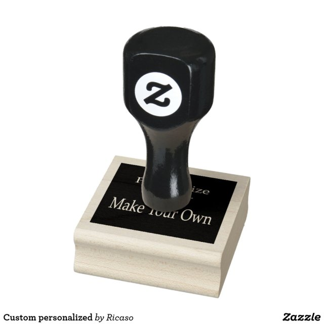 Design your own personalised rubber stamp