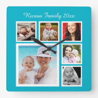 Make Your Own Photo Collage Clock