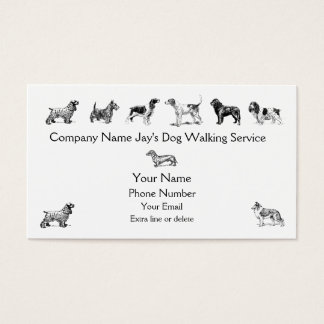 348+ Dog Walking Business Cards and Dog Walking Business