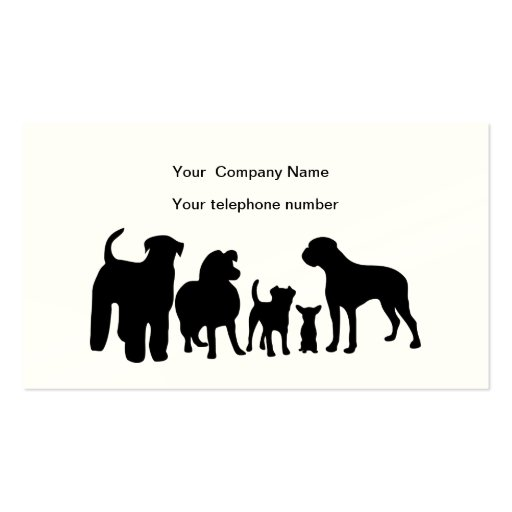 Create Your Own Dog Walker Business Cards