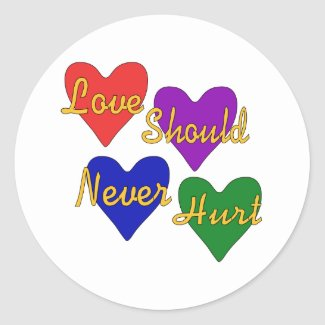 Domestic Violence Awareness Round Sticker