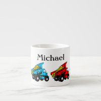 Dump trucks for kids espresso cup