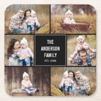 Editable Photo Collage Coasters