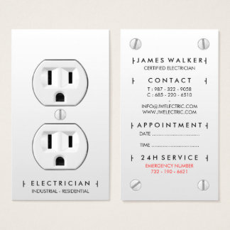 Electrician Business Cards Business Card Printing